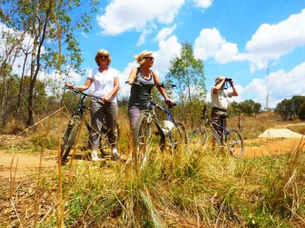 Biking Kololo Game Reserve